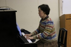 歌唱指導は山田先生