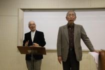 石寺隆義氏の指揮で大上祥彦会員が「歓喜の歌」を独唱